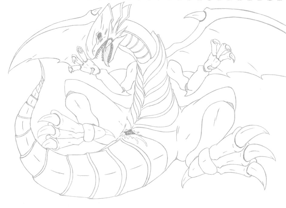 white dragon blue cartoon eyes Hatsukoi 1/1 cg