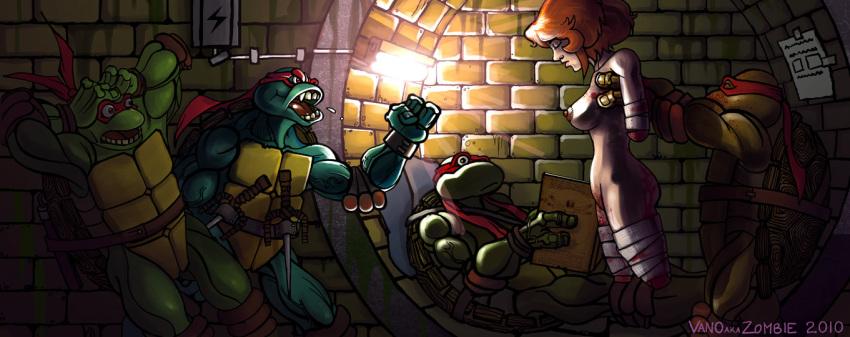 mutant ninja turtles teenage april naked Resident evil 2 mr x gif