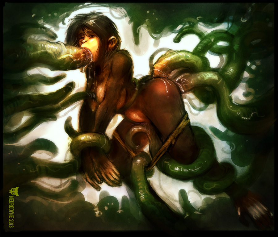 secret the tentacle mania of green Korra and asami